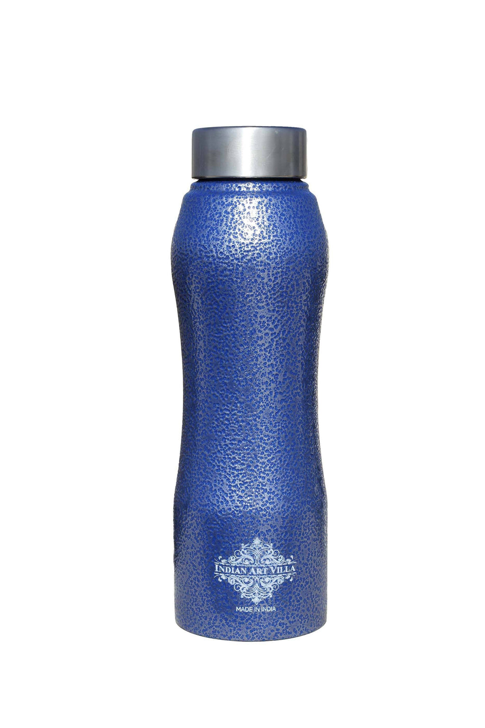Steel Bottle Ergonomic Design With Steel Cap Antique Blue 25 Oz