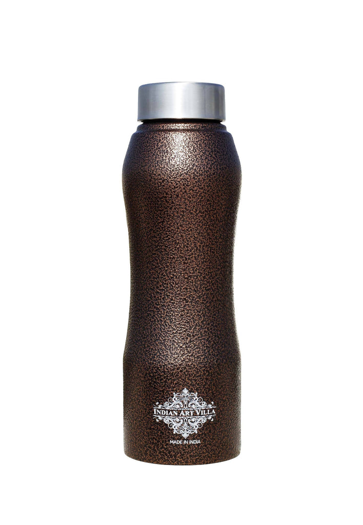 Steel Bottle Ergonomic Design With Steel Cap Antique Copper 25 Oz
