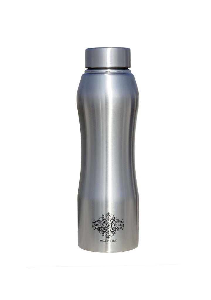 Steel Bottle Ergonomic Design With Steel Cap Plain Matt 25 Oz