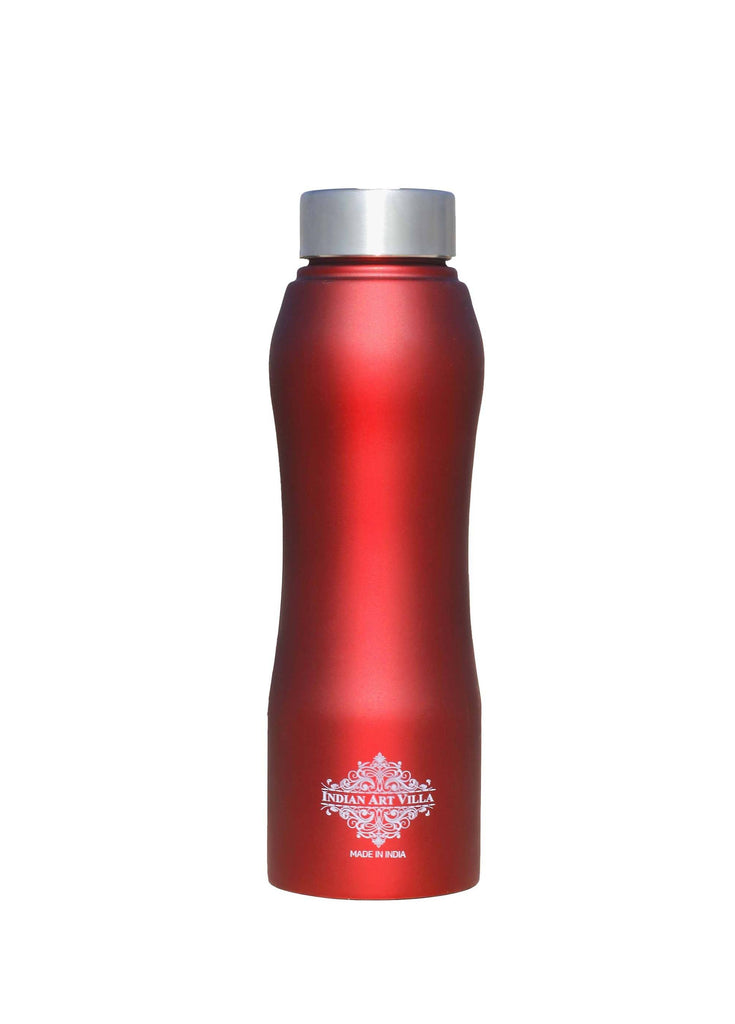 Steel Bottle Ergonomic Design With Steel Cap Red Matt 25 Oz