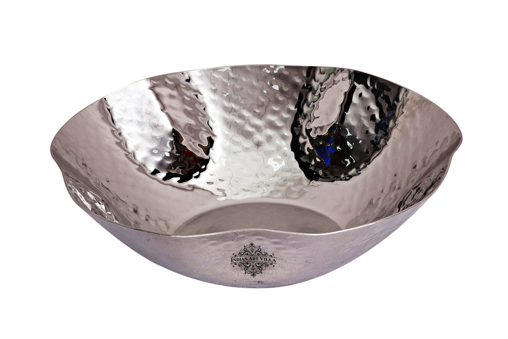 Steel Bowl|360 ML Capacity|for Serving Home Hotel Restaurant Steel Bowls SS-5