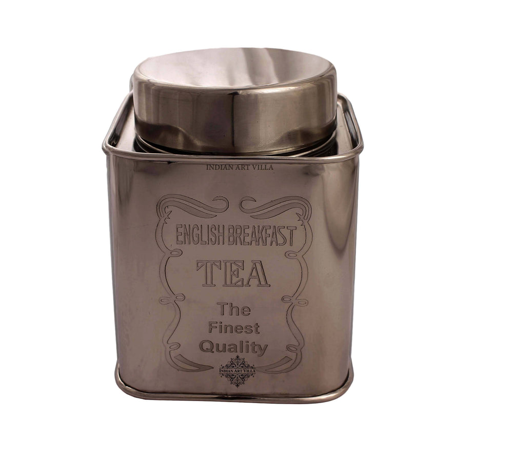 Steel Coffee & Sugar & Tea Container, 5'' Inch Steel Tea Pots IAV-CC-6-163- Tea Container