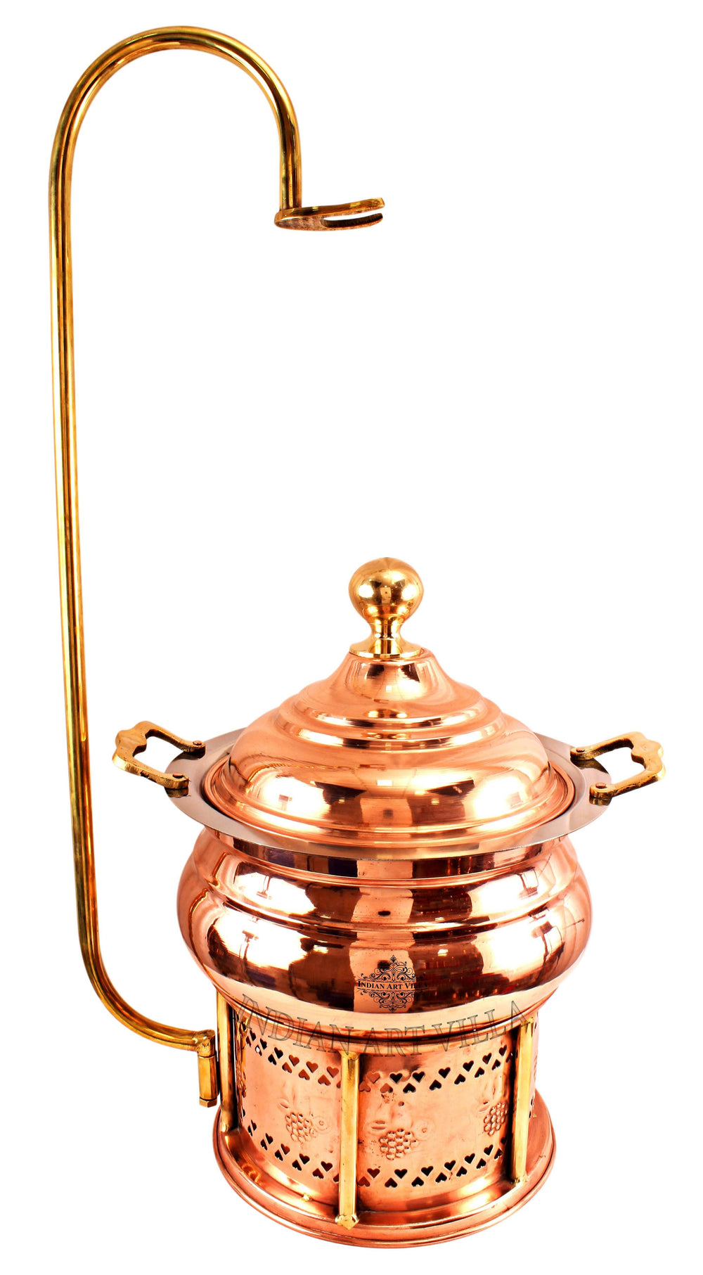 Steel Copper Chaffing Dish With Stand & Handle - 135.25 Oz | 202.88 Oz | 270.51 Oz Chafing Dishes CC-32