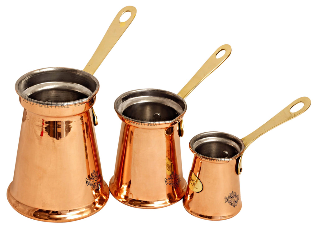 Steel Copper Measuring Jug Cup, Set of 3 Copper Ware Drink Ware Combo CCB-DW