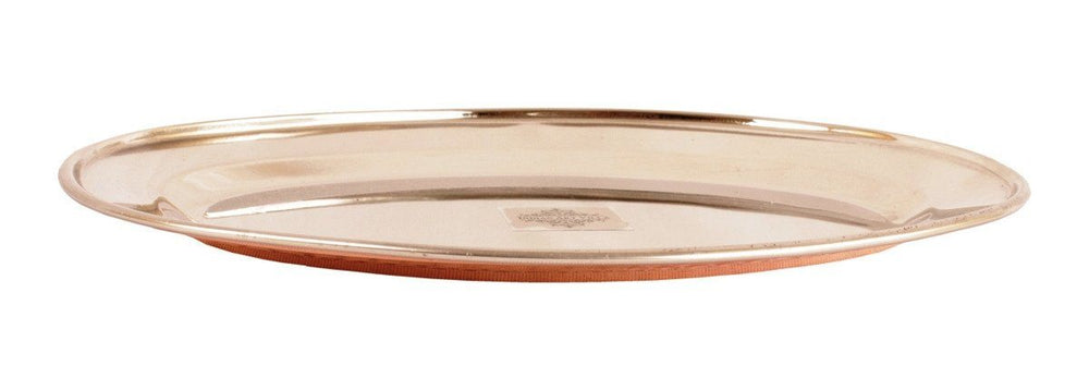 Steel Copper Oval Serving Plate