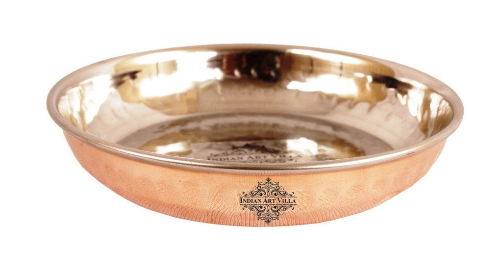 Steel Copper Rice Pudding Plate for Kitchen Dining