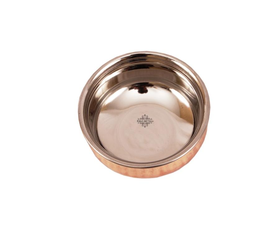 Steel Copper Serving Handi Bowl|Serving Dishes Handi CC-6