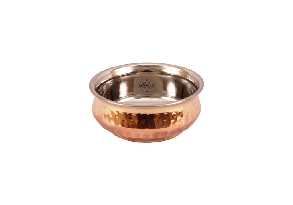 Steel Copper Serving Handi Bowl|Serving Dishes