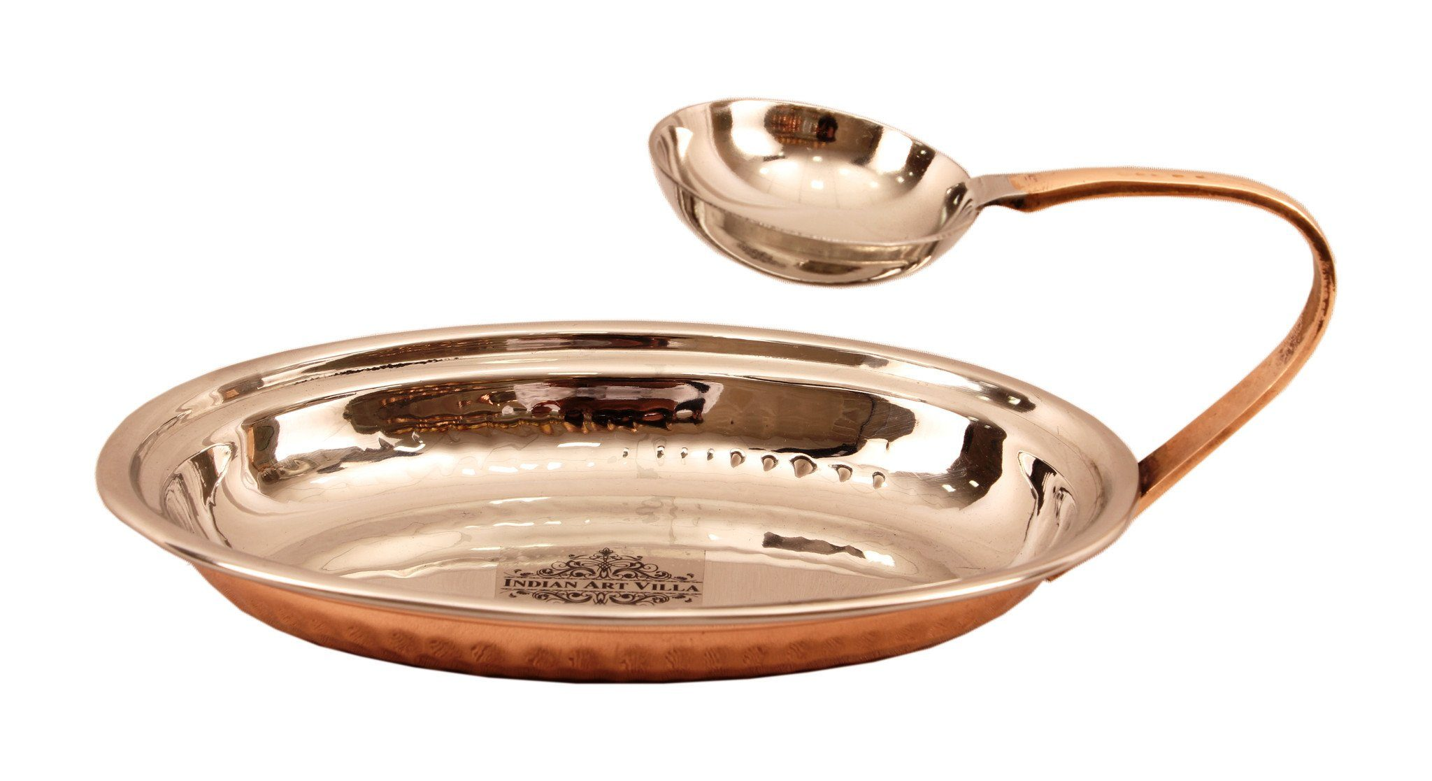Steel Copper Tawa with Attach Bowl