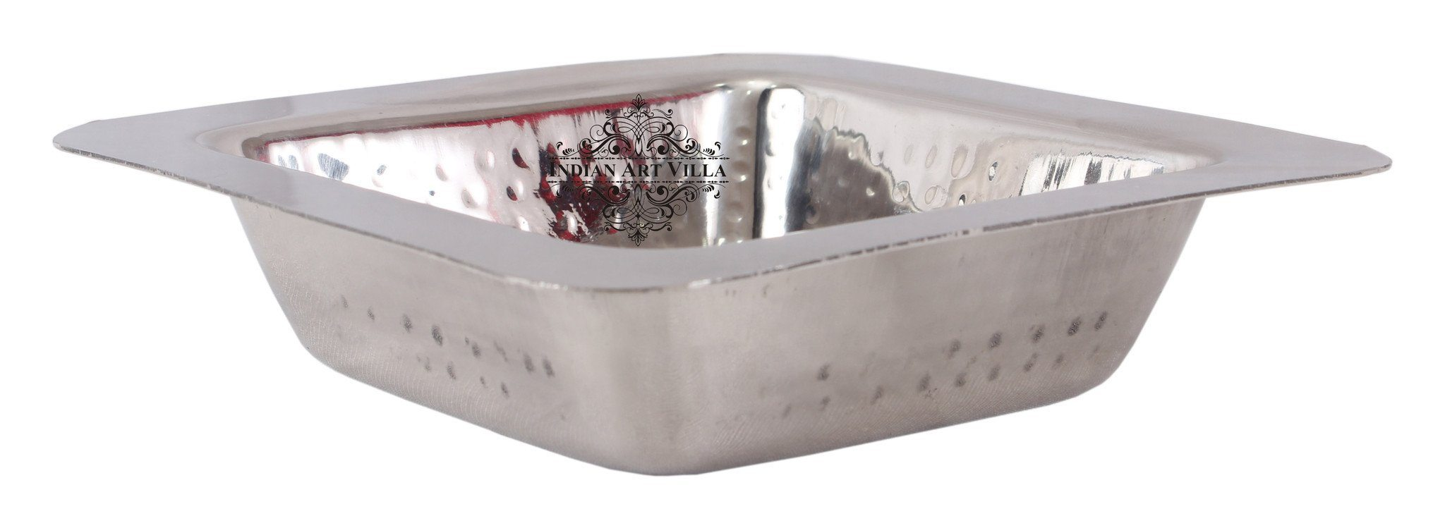 Steel Hammer Square Entree Dish Bowl