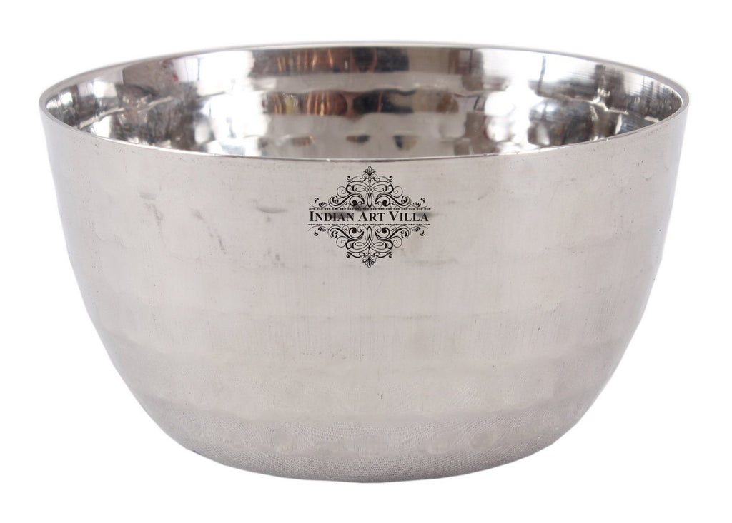 Steel Hammered Bowl Katori Serving Dinner Vegetable Dessert Rayta