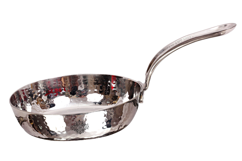 Steel Hammered  Design Fry Pan with Steel Handle, Serving & Fry Food