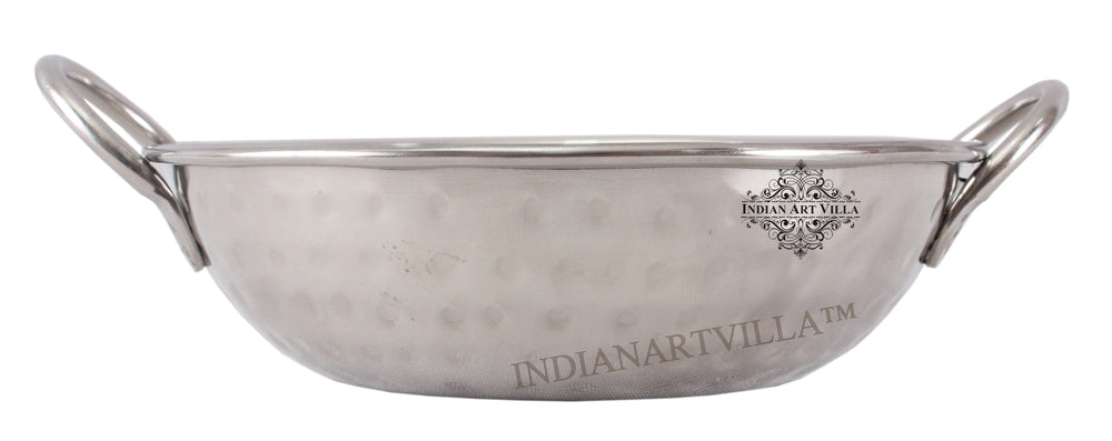 Steel Hammered Kadhai Wok with Round Handle Steel Kadhai IAV-SS-5-107-