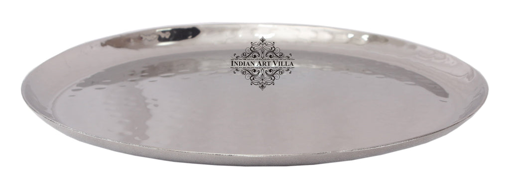 Steel Hammered Round Platter Tray|Serving Dish Tableware