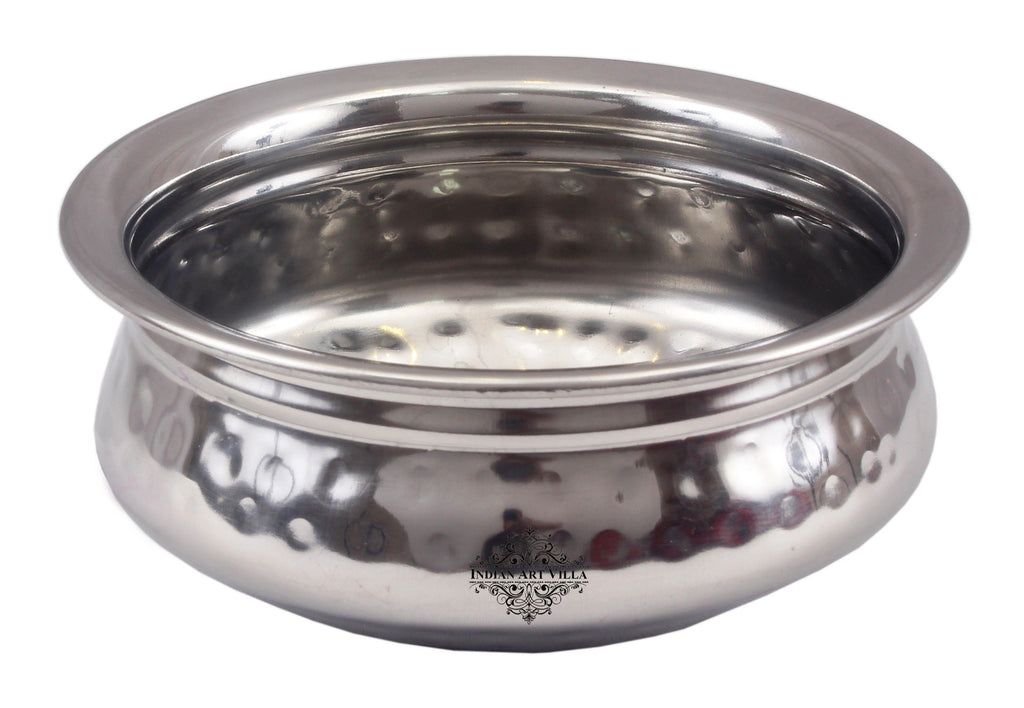 Steel Hammered Serving Handi|Serving Dishes Briyani Steel pans SS-5
