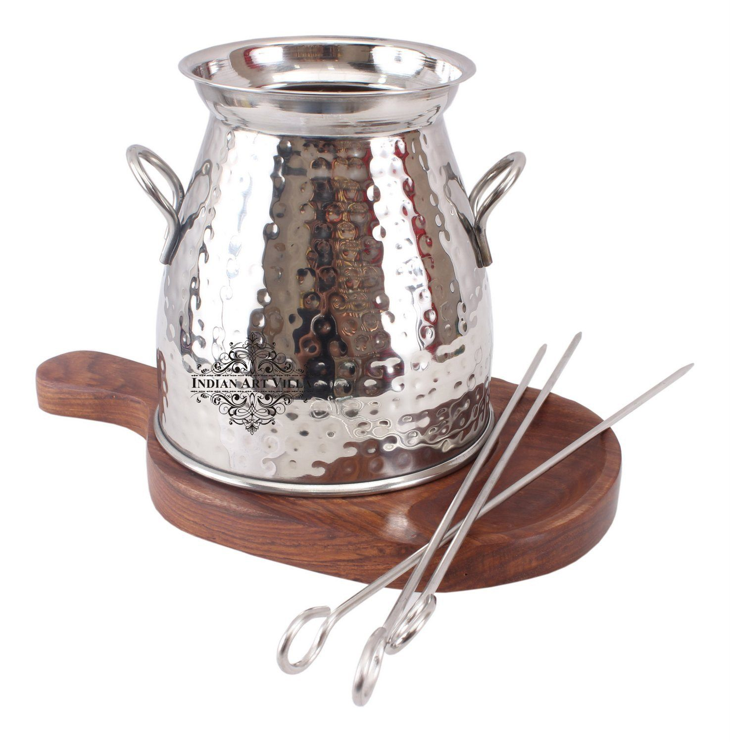 Steel Handmade Table Tandoor for Paneer Tikka Chicken Dish