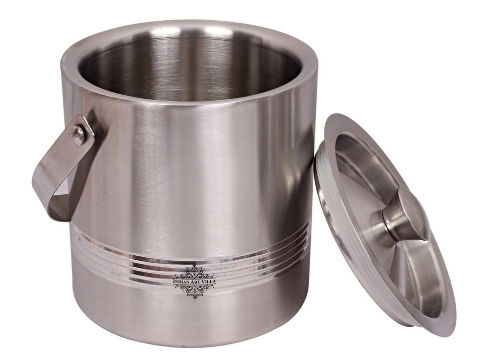 Steel Lining Design Ice Bucket with Lid & Handle, Serveware Tableware, Volume 1700 ML Ice Containers SS-5