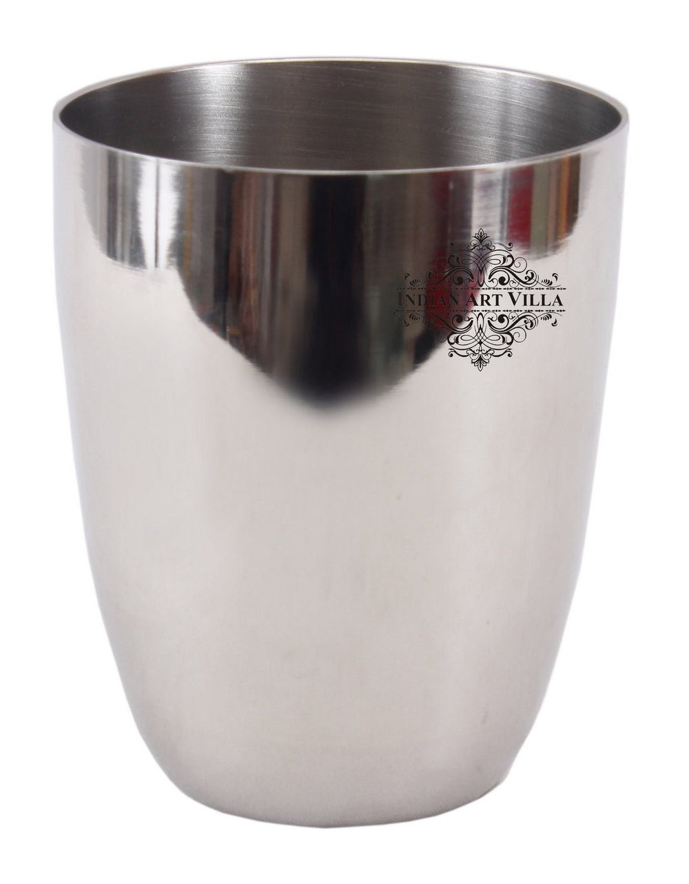 Steel Plain Glass Tumbler Cup Serving Drinking Water