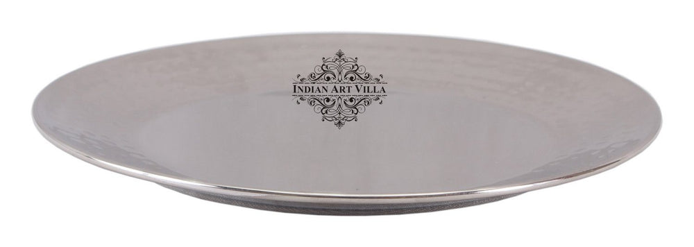 Steel Quarter Plate | Diameter 7.5 Inch - 10 Inch and 11 Inch Plates Indian Art Villa 10 Inch