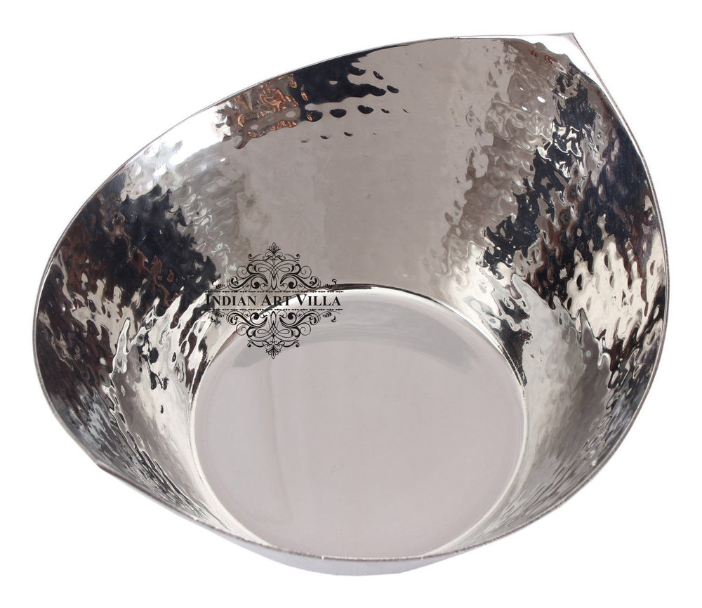 Steel Serving Bowl Hammered Cut Design Serving Dry Fruits Nuts Beetel Steel Bowls IAV-SS-5-147-