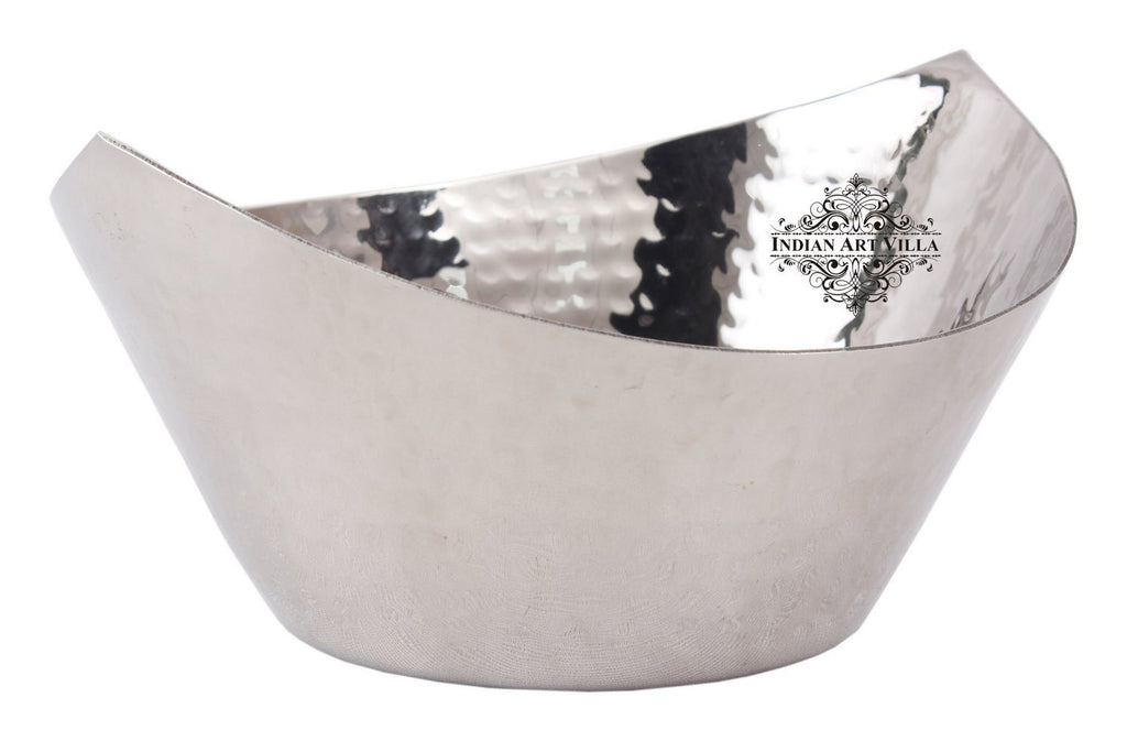 Steel Serving Bowl Hammered Cut Design Serving Dry Fruits Nuts Beetel