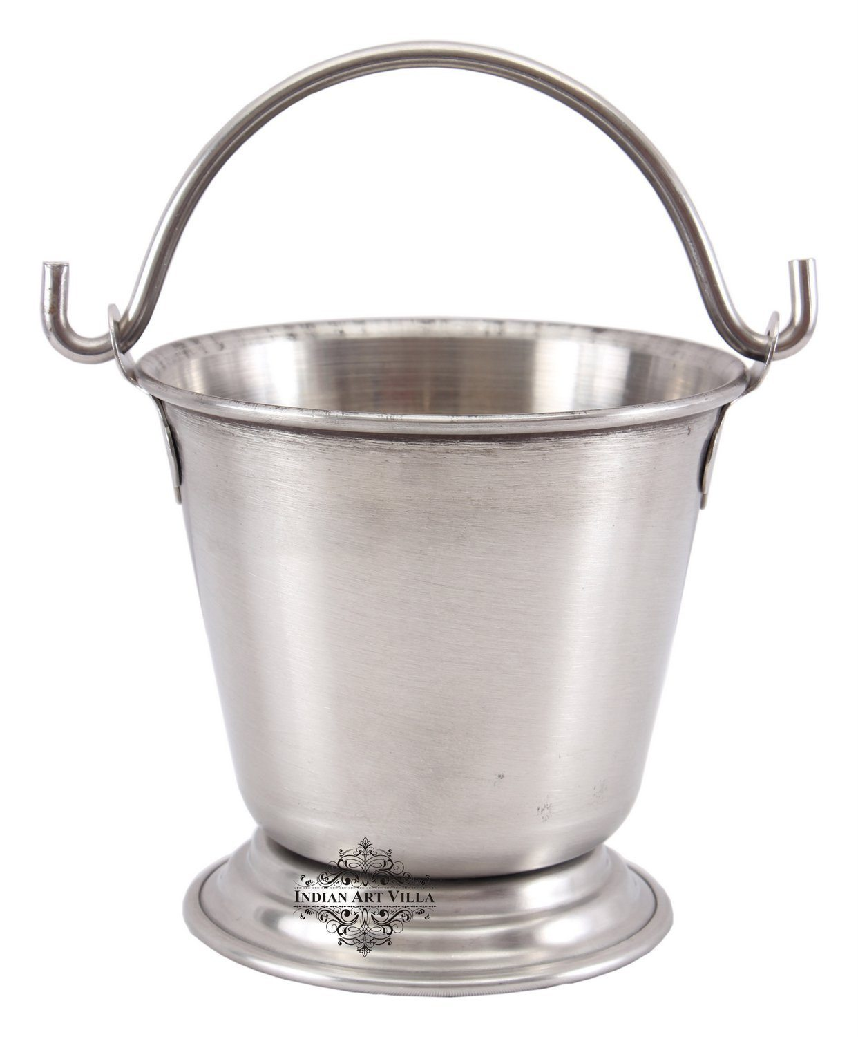Steel Serving Double Layer Bucket Serving Vegetable Rayta Dishes