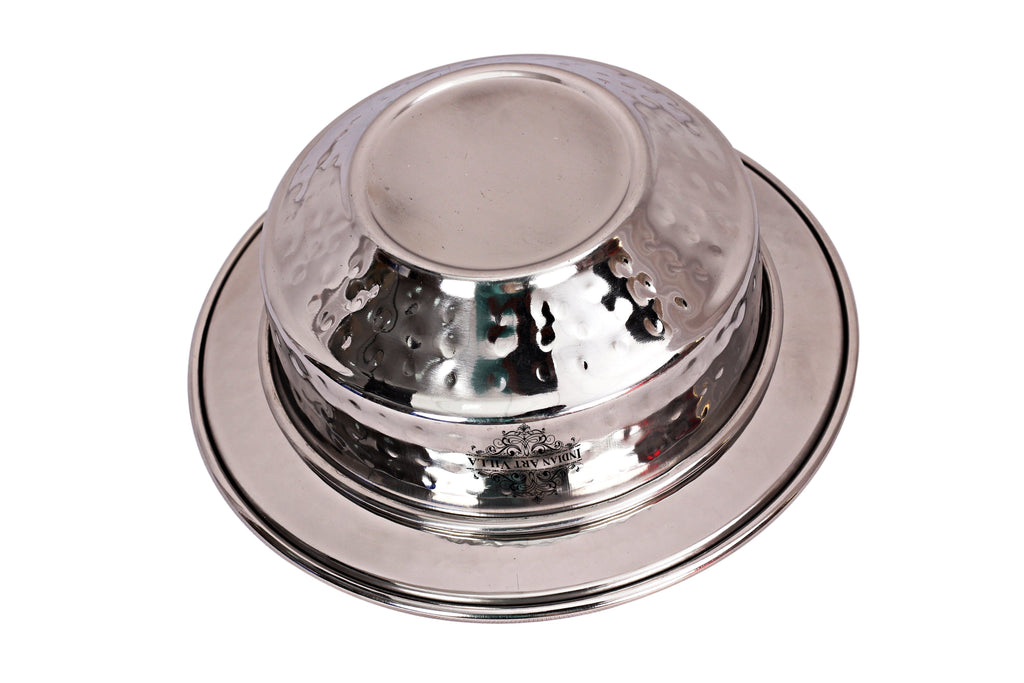 Steel Serving Soup Bowl with Underliner|Serving Dishes Vegetable Steel Bowls SS-5
