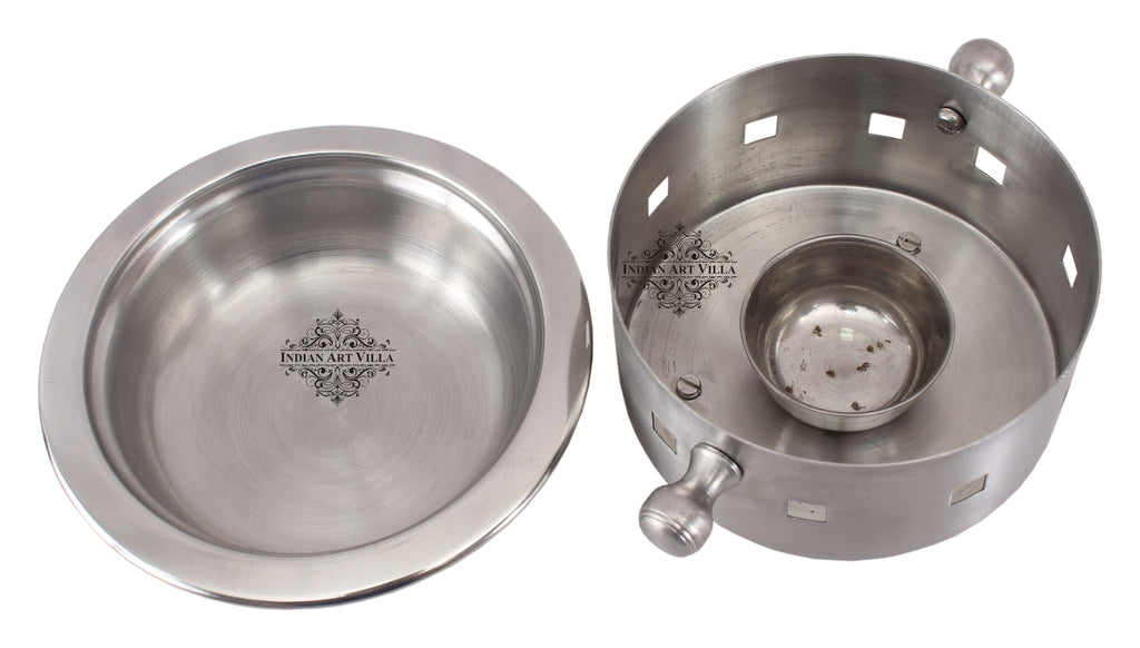 Steel Snack Warmer with Fuel Bowl|Serving Dishes Sigri SS-5