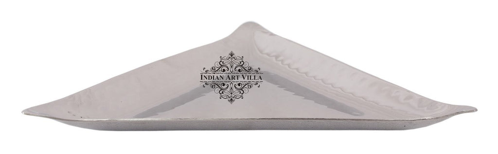 Steel Triangular Hammered Design Platter Tray for Serving Dishes