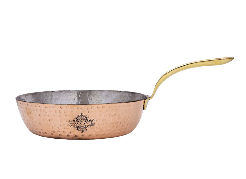 Steel with Copper Plated Hammered Design Serving Sauce Pan Pans CC-17 Big