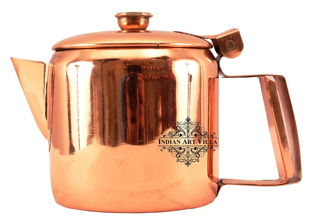 Steel with Copper Plated Tea Pot Kettle with Lid Tea Pots Indian Art Villa