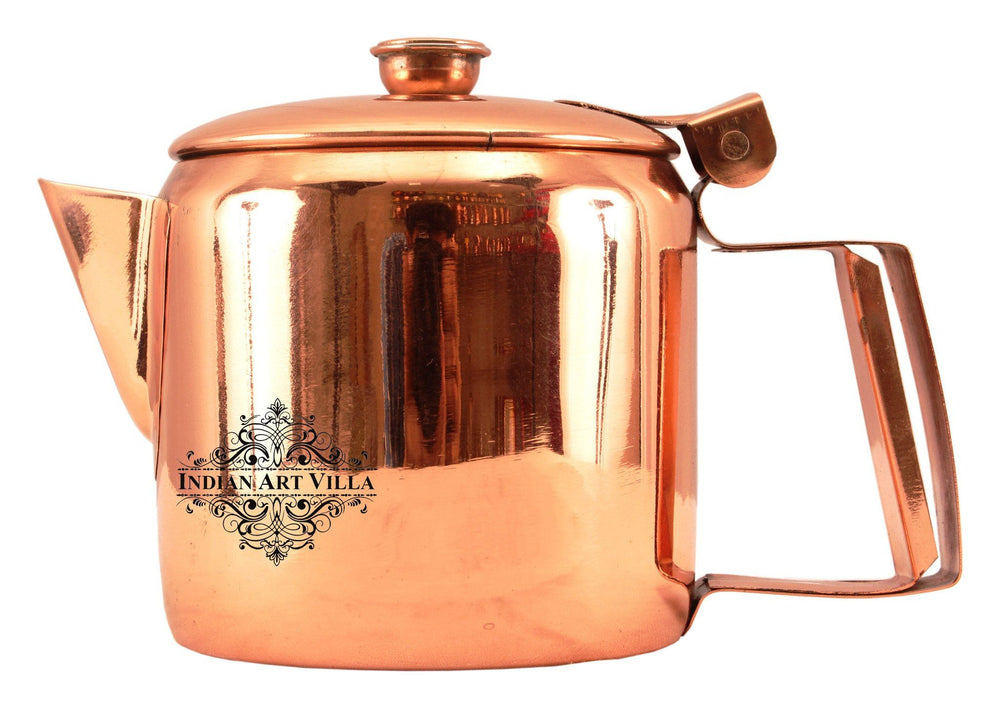 Steel with Copper Plated Tea Pot Kettle with Lid