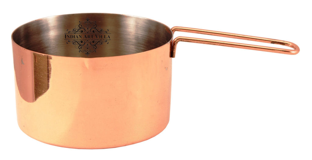 Steel with Copper Plated Tea/Milk Pan with Handle 250 ML