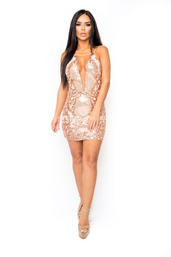 Katerina Dress (Rose Gold)