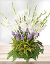 White Gladiolus Flower Arrangement
