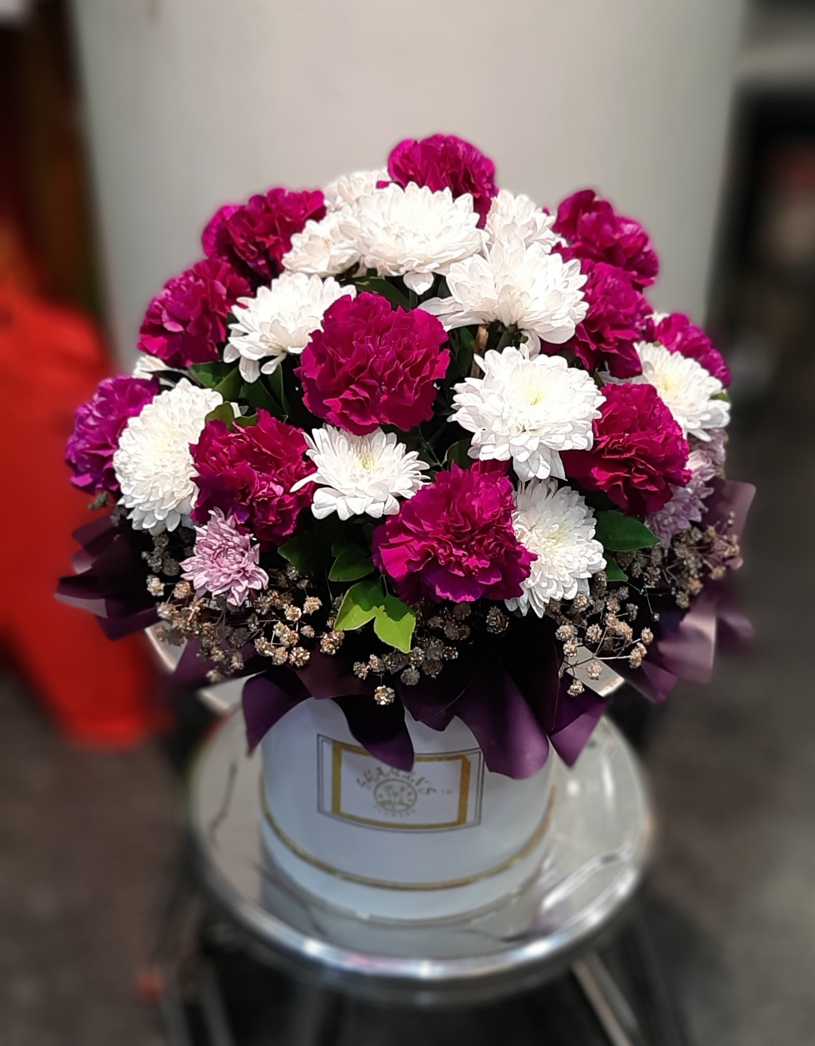 Hat Box Flowers Delivery Pune Mumbai