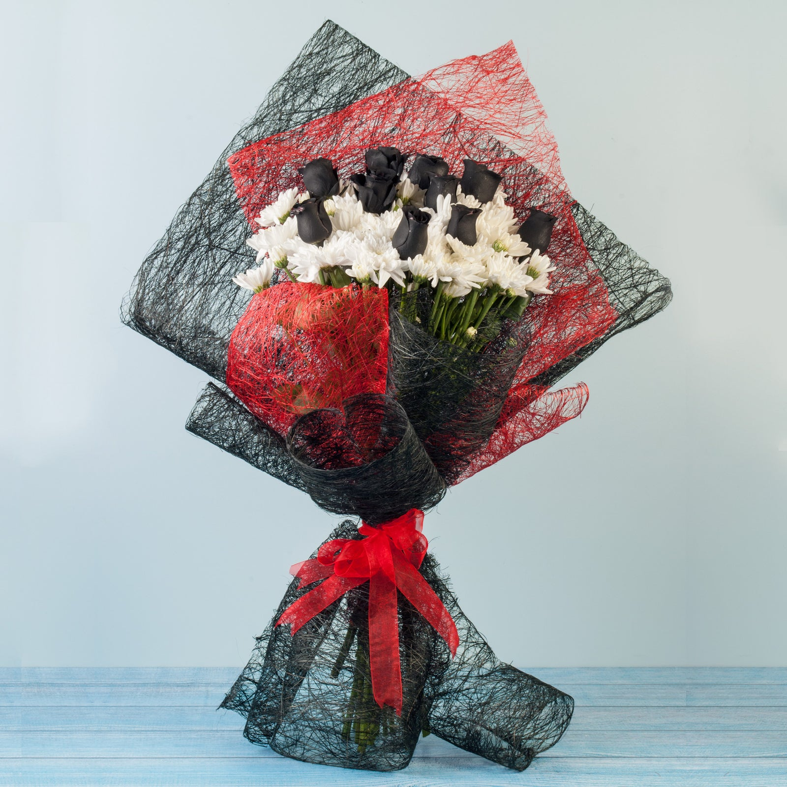 Hand Tied Bouquet Of Black Roses for online delivery
