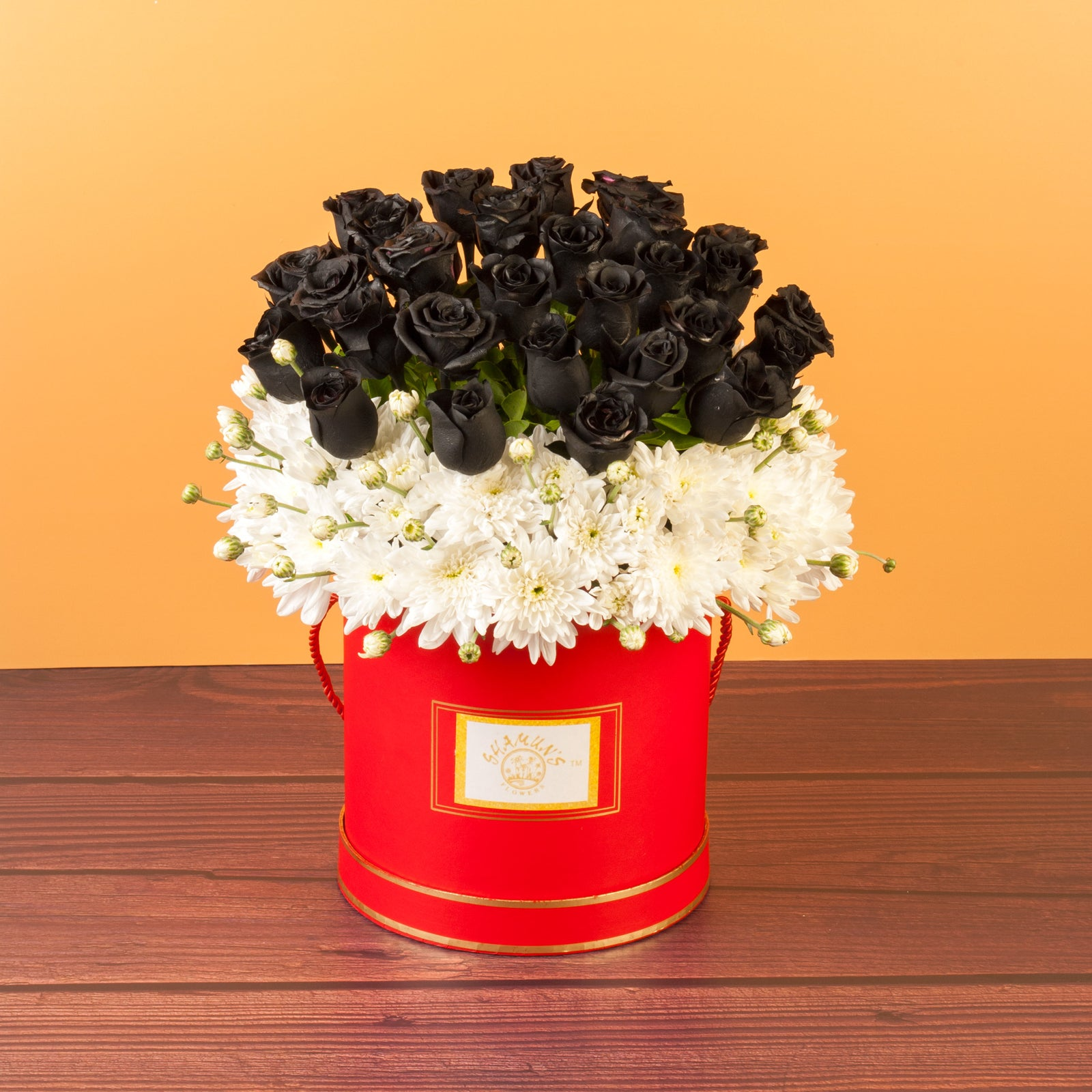 Black Roses Delivered In Flower Box