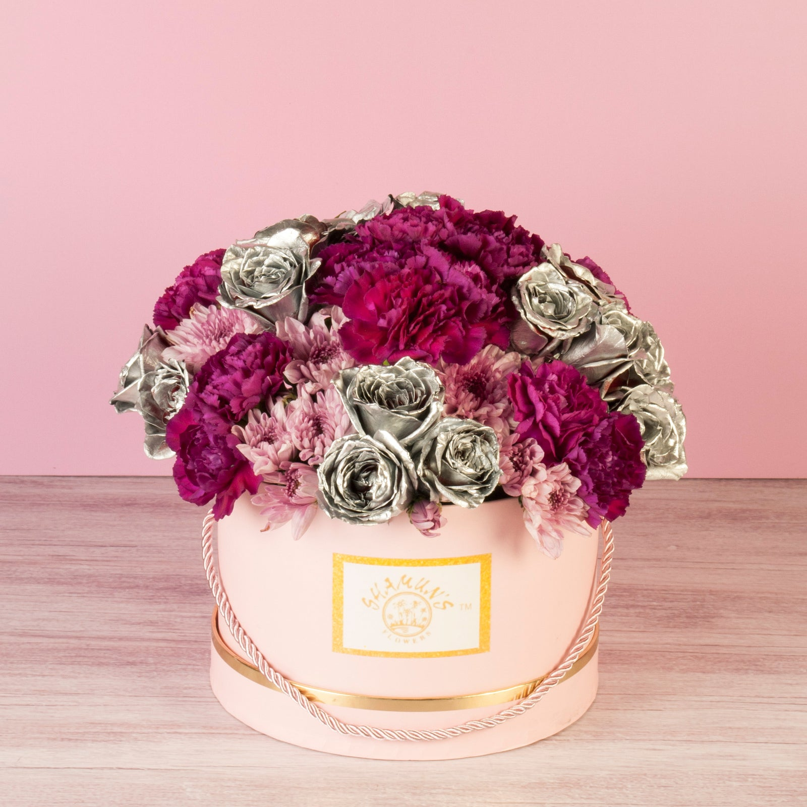 Silver Roses and Carnations Box
