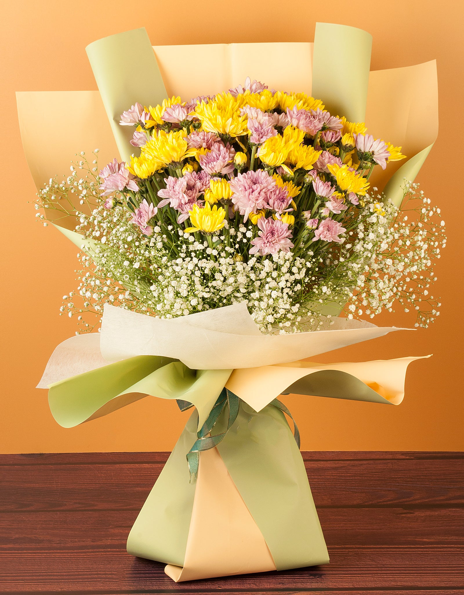 Hand Tied Chrysanthemums Bouquet Delivery