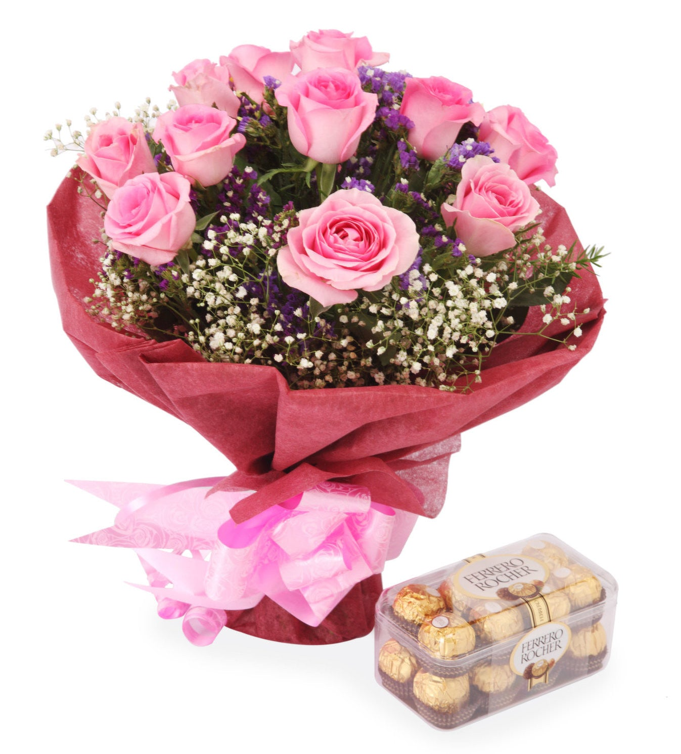 Roses & Ferrero Rocher Chocolates delivery near me