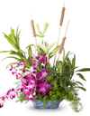 Orchids and lilies bouquet delivery pune