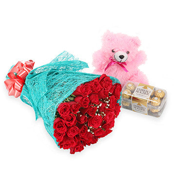 flower chocolate and teddy bear delivery to Pune