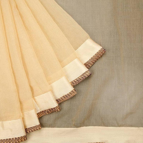 Kota Handloom Cotton Cream Saree