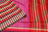 pink striped-saree-PROSAR0110