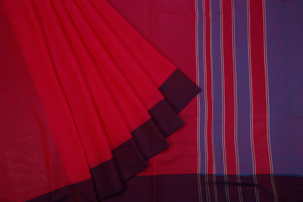 Phulia Handloom Cotton Magenta Body Saree