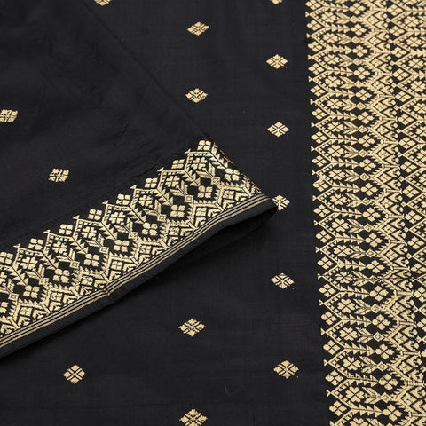 Assam Handwoven silk  Black Saree
