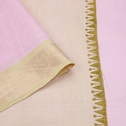 south cotton hand embroidered cotton beige lime short colour Saree