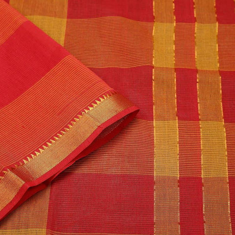Mangalgiri Multi Colour Cotton Silk Saree