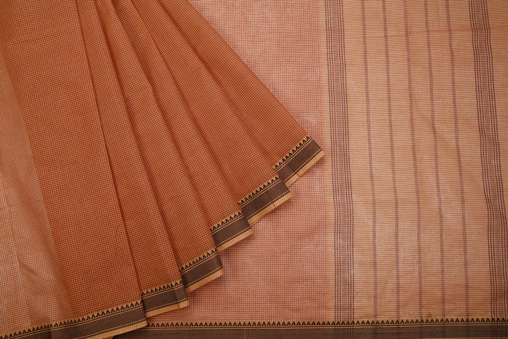 Handloom Cotton Biscuit Saree